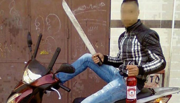 مشرمل عرض أمن المواطنين لتهدید خطير بالسلاح الأبيض بساحة السراغنة