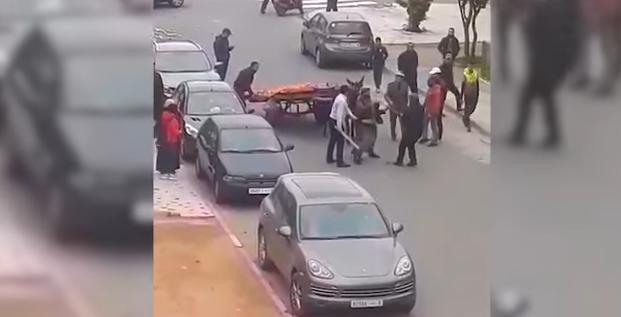 عمالة مقاطعة الحي الحسني تكشف حقيقة فيديو اعتداء رجل سلطة على بائع متجول