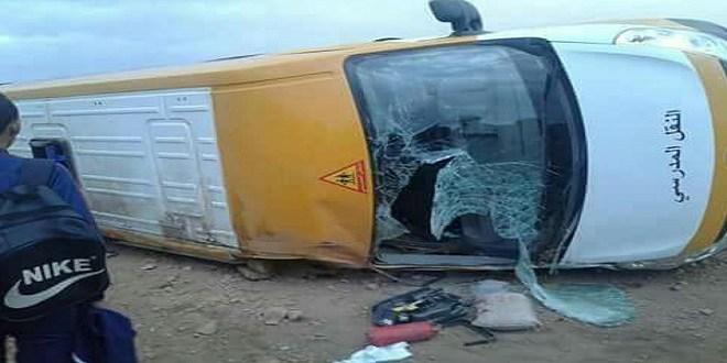 مقتل تلميذة في إنقلاب سيارة للنقل المدرسي
