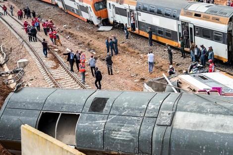 انحراف قطار عن سكته في الدار البيضاء