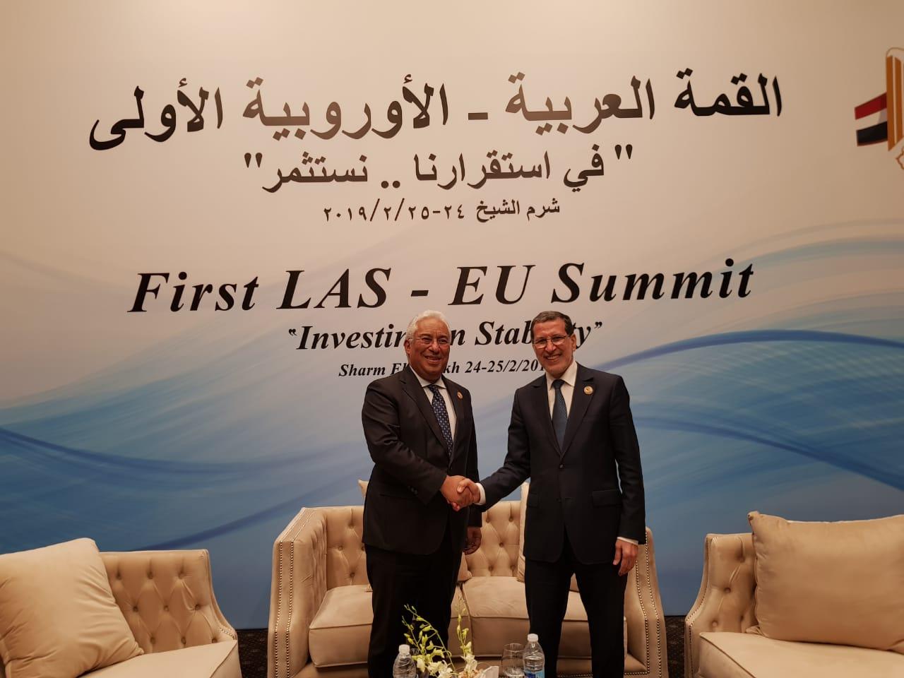 العثماني يتباحث مع رئيس الحكومة البرتغالي تطوير العلاقات الاقتصادية ودعم التشغيل