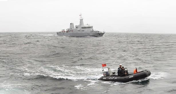 البحرية الملكية تنقد طاقم قارب صيد في البحر