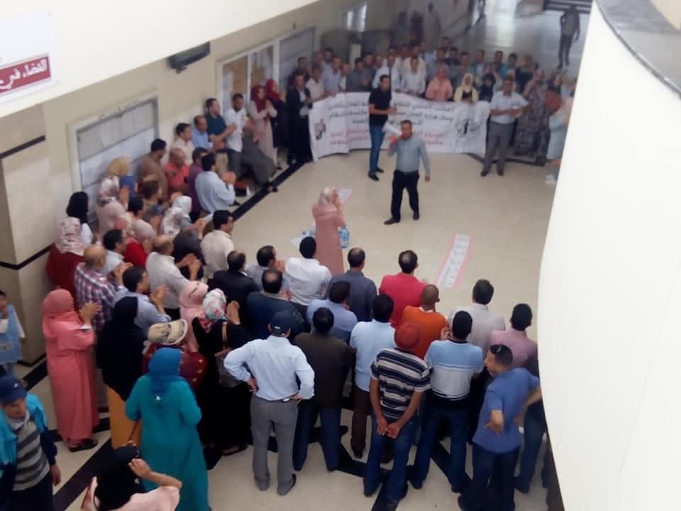 شلل ووقفات احتجاجية بمحاكم المغرب (صور)