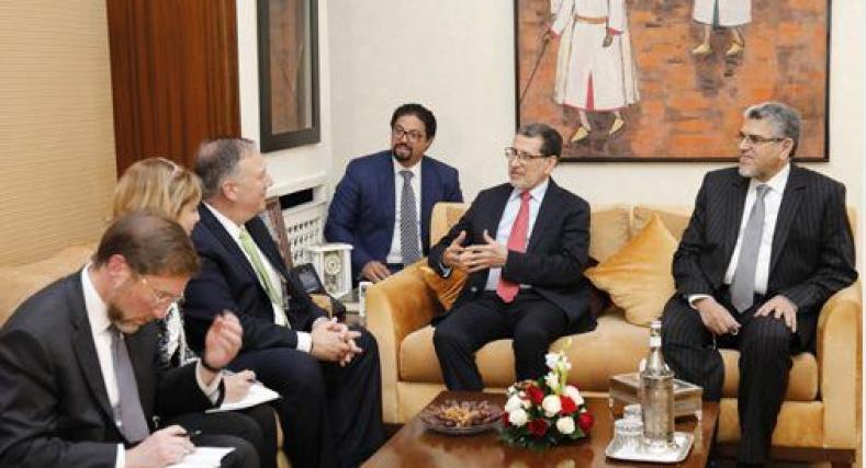 العثماني يتباحث بالرباط مع وزير الخارجية الأمريكي