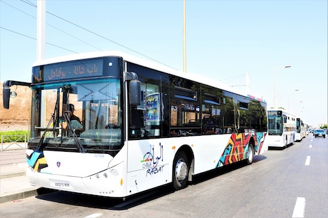 """إضراب لعمال حافلات """"شركة ألزا"""" للنقل الحضري بالرباط وسلا وتمارة"""
