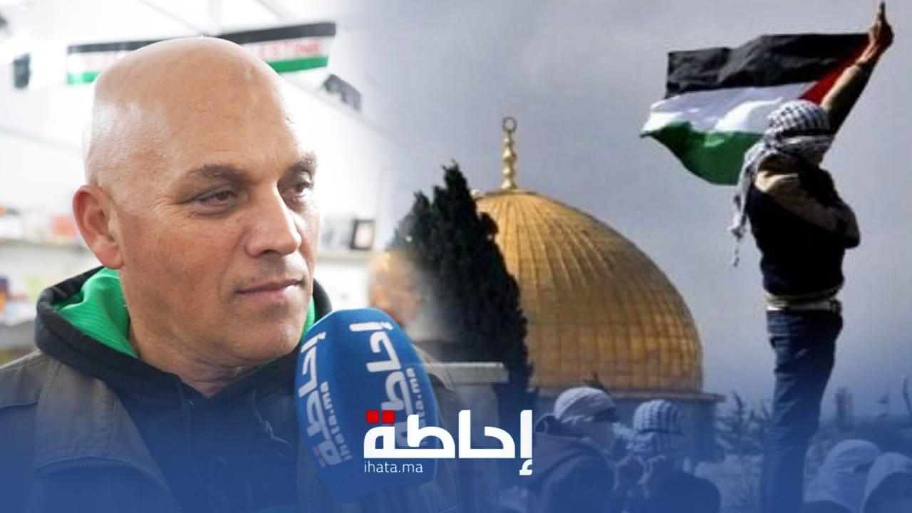 فلسطيني بمعرض الكتاب يتحدث عن الفلسطينين الرجاويين (فيديو)