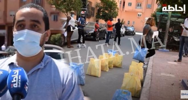 فيديو.. توزيع مساعدات على أفارقة جنوب الصحراء بمراكش