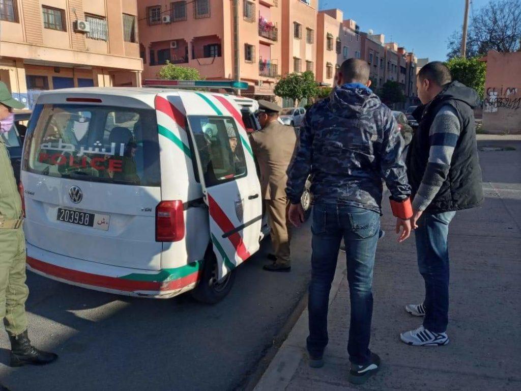 اعتقال 5 أشخاص رفضوا الامتثال لحالة الطوارئ بمراكش (صور)