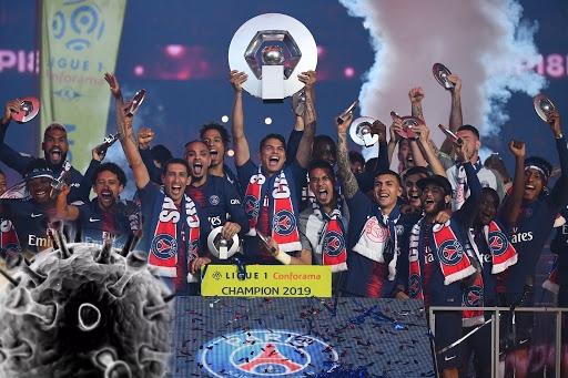 كورونا يمنح لقب الدوري الفرنسي لباريس سان جرمان ويسقط ناديين