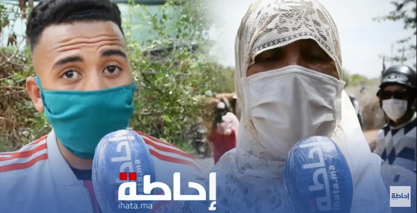 فيديو.. إحتجاج مواطنين بضواحي مراكش على عدم توصلهم بقفة رمضان