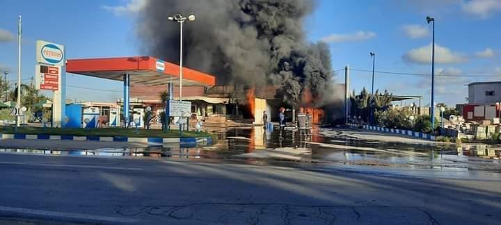 وفاة مستخدم في حريق محطة بنزين بالخيايطة