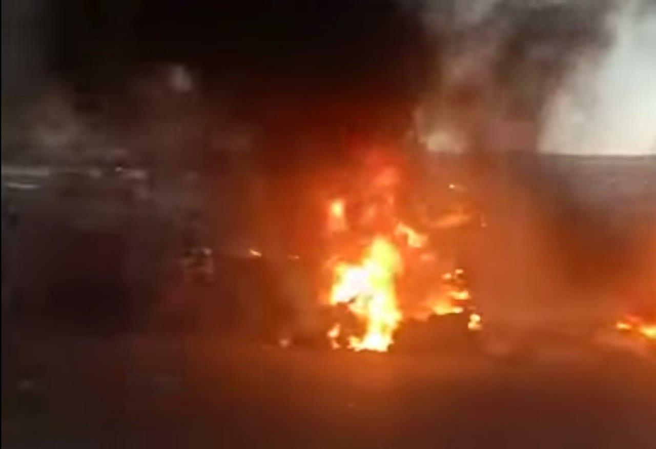 حريق مهول يجهز على سوق الجملة للخضر والفواكه بمراكش (صور)