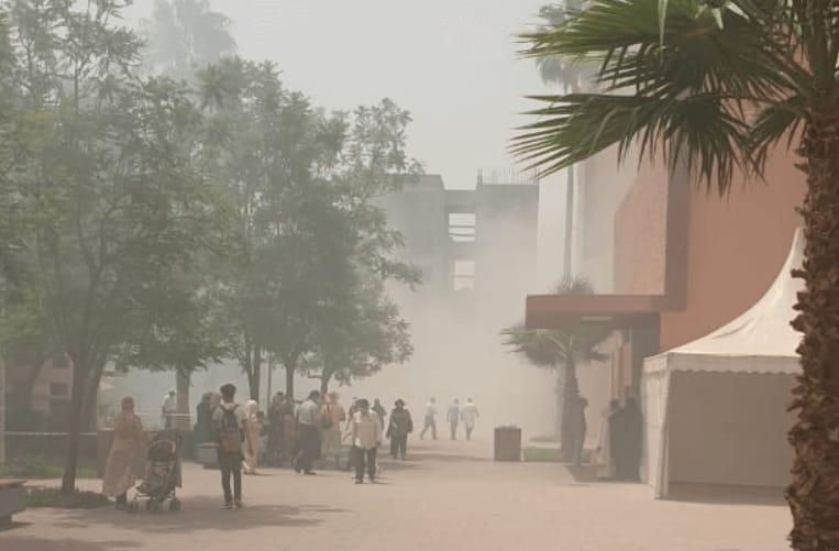 حريق مهول يشب بالمستشفى الرازي بمراكش
