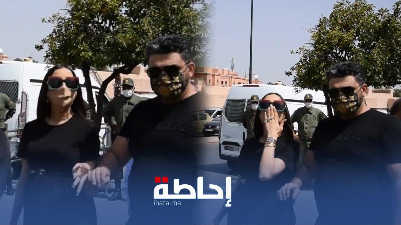 فيديو.. لحظة دخول دنيا بطمة للمحكمة بمراكش