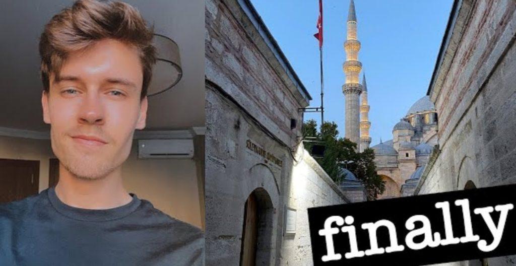 فيديو.. يوتيوبر بريطاني مشهور يعتنق الاسلام