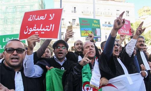 """الجزائر: المحامون يعتصمون ويضربون لأسبوع للمطالبة بـ""""قضاء مستقل"""""""