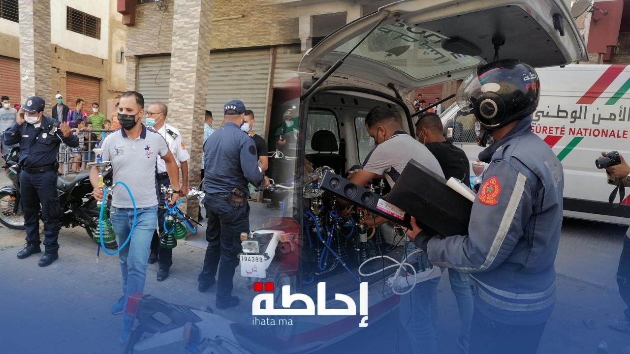 فيديو.. الأمن يداهم مقهى للشيشة بحي مولاي رشيد بكازا